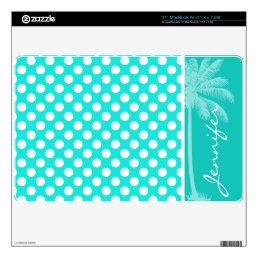Summer Aqua Color Polka Dots Skin For The MacBook Air