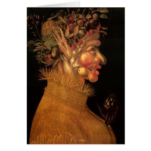 Summer - Arcimboldo - 1563 Greeting Cards