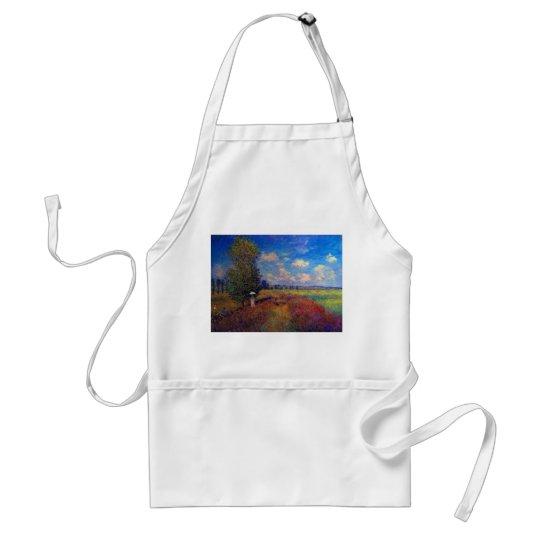 Summer art impressionist poppy fields by Monet Adult Apron