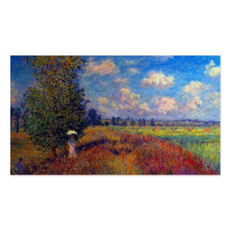 Summer art impressionist poppy fields by Monet Business Card Template