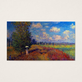 Summer art impressionist poppy fields by Monet Business Card