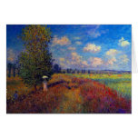 Summer art impressionist poppy fields by Monet Cards