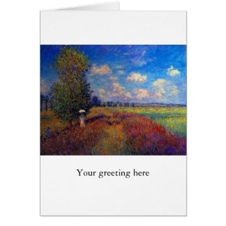 Summer art impressionist poppy fields by Monet Card