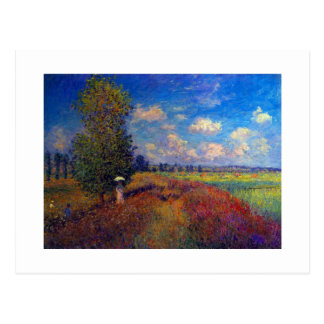 Summer art impressionist poppy fields by Monet Postcard