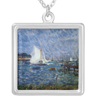 Summer at Cowes Square Pendant Necklace