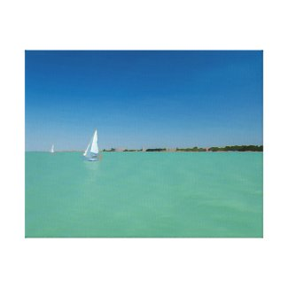 Summer at lake Balaton Canvas Prints