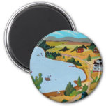 Summer At Lake George 2 Inch Round Magnet