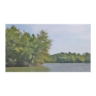 Summer at Sancris Lake Canvas Print
