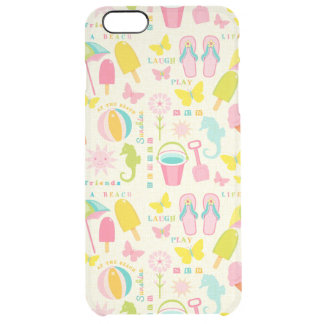 Summer At The Beach Clear iPhone 6 Plus Case