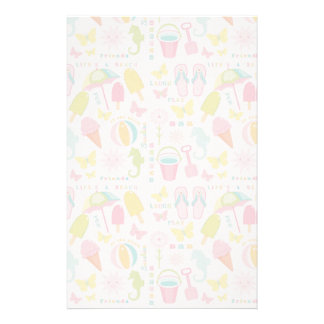Summer At The Beach Stationery