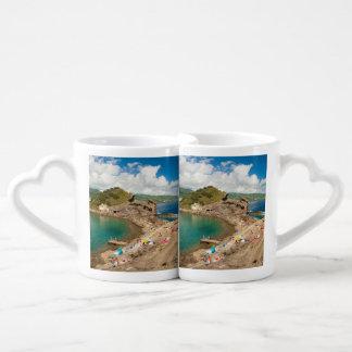 Summer at the islet couples coffee mug