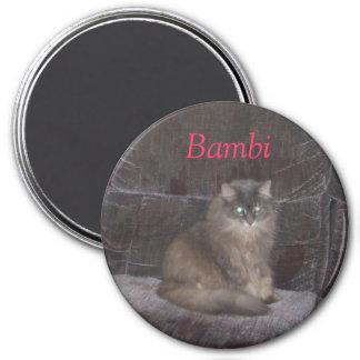 Summer August 2007 104, Bambi 3 Inch Round Magnet