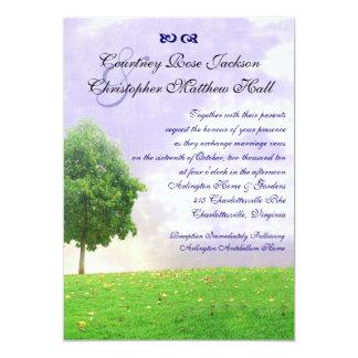 Summer/Autumn Tree Wedding Invitation