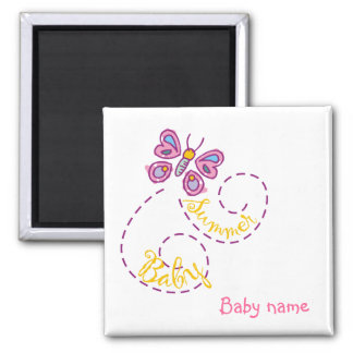 Summer Baby Magnet with  Baby name