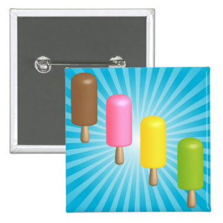 Summer Background - Ice Cream Bars Pinback Buttons