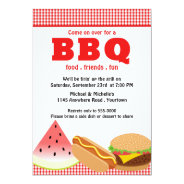 Summer Backyard BBQ 5x7 Paper Invitation Card at Zazzle