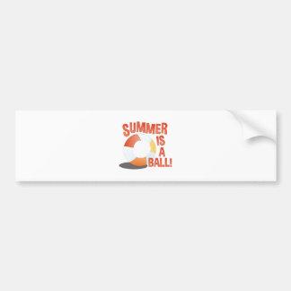 Summer Ball Bumper Sticker