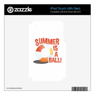 Summer Ball Decal For iPod Touch 4G