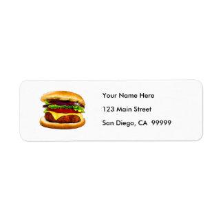 Summer Barbecue Burger Return Address Labels