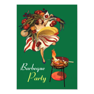 SUMMER BARBEQUE PARTY DANCE , ITALIAN KITCHEN CARD
