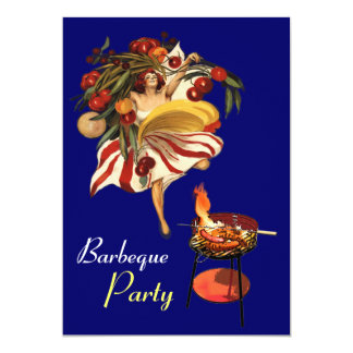 SUMMER BARBEQUE PARTY DANCE , ITALIAN KITCHEN INVITES