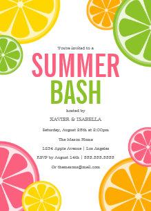 Summer Bash Party Invitation