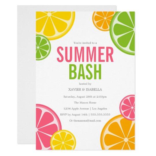 summer bash summer party invitation zazzle com