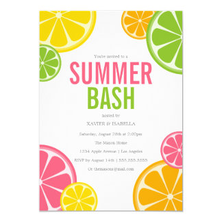 summer party invitations, Party invitations