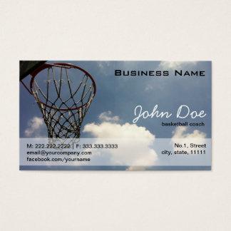 Summer Basketball Business Card