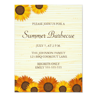 Summer BBQ/cookout party invitations