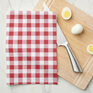 Summer BBQ Grill Cookout Reunion Red Gingham Check Kitchen Towel