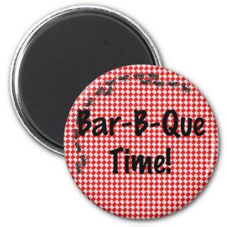 Summer BBQ Invitation 2 Inch Round Magnet