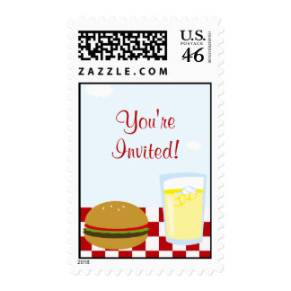 Summer BBQ Postage Stamps