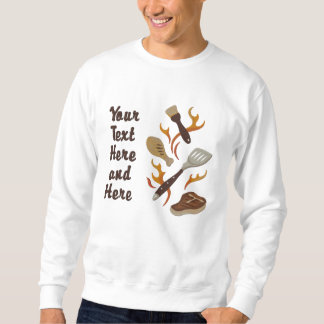 Summer BBQ Time  - Customize Embroidered Sweatshirt