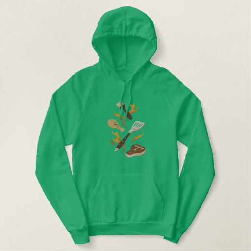 Summer BBQ Time Embroidered Hoodie