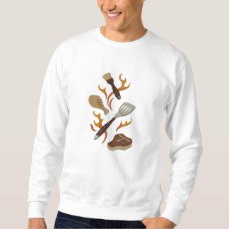 Summer BBQ Time Embroidered Sweatshirt