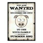 Summer BBQ Wanted Invitations