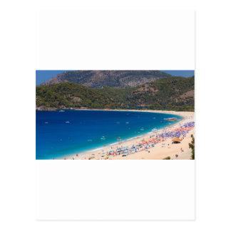 Summer Beach and Mountains Postcard
