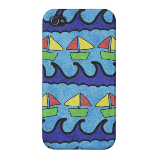 Summer Beach and Sailboats Iphone Case iPhone 4/4S Cover