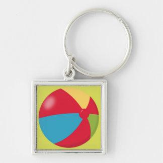 Summer Beach Ball Keychain