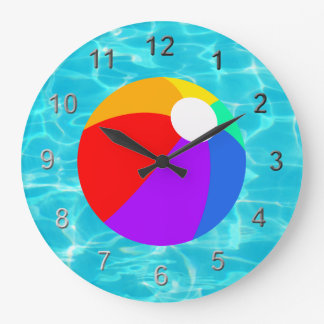 Summer Beach Ball Large Clock