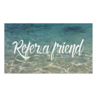 Summer Beach Beauty & Salon Referral Card
