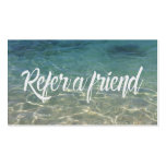 Summer Beach Beauty & Salon Referral Card Business Card