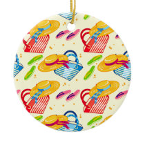 Summer beach ceramic ornament