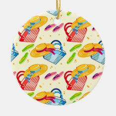 Summer Beach Ceramic Ornament at Zazzle