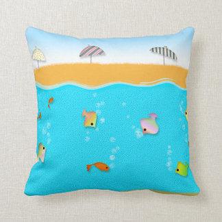 Summer Beach Collection,  the beach! Throw Pillow