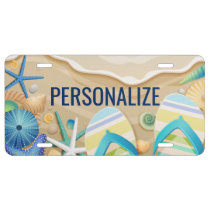 Summer Beach Custom License Plate