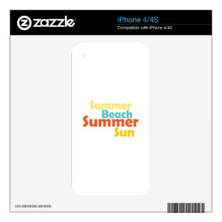 Summer Beach Decals For The iPhone 4S