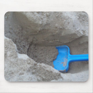 Summer Beach Digging Sand Shovel, Scoop, Playing Mouse Pad