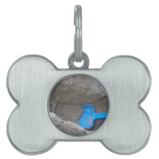 Summer Beach Digging Sand Shovel, Scoop, Playing Pet ID Tag